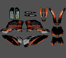 Новый стиль команда графические наклейки для KTM 125 200 250 300 350 450 525 SX SXF 2007-2011 отл XCF 2008 2009 2010 2011