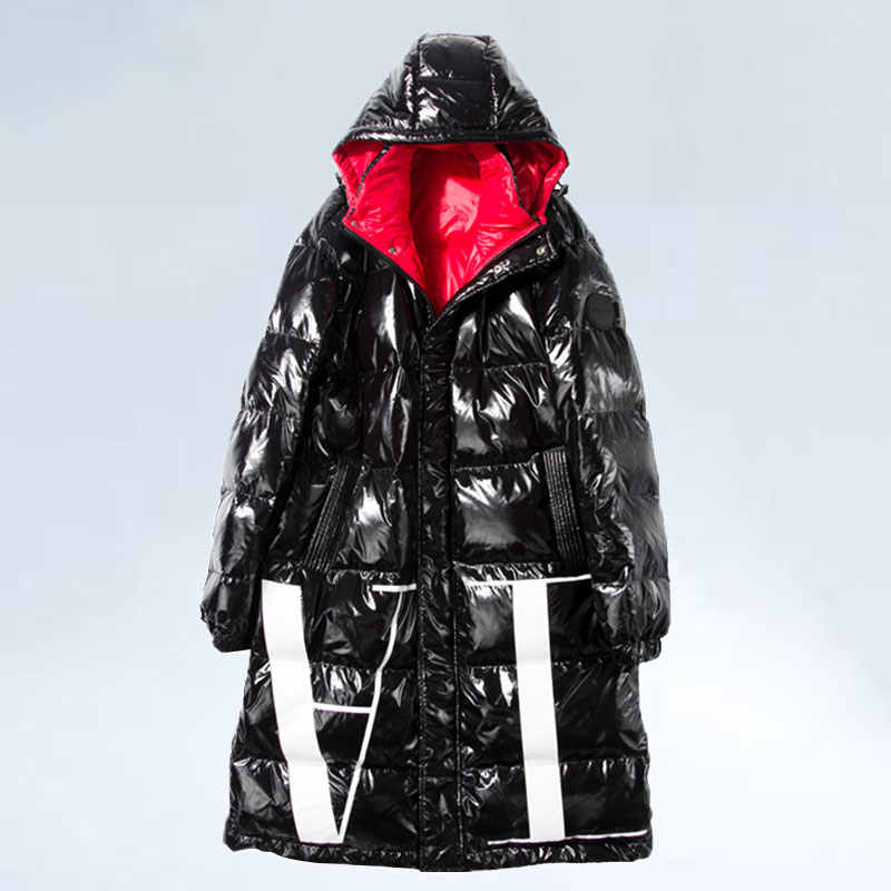 High-end 90% Wit Ganzendons Lange Jassen 2019 Winter Vrouwen Witte Jassen Paar Fashion Down Jassen Warm Hooded plus Size Parka