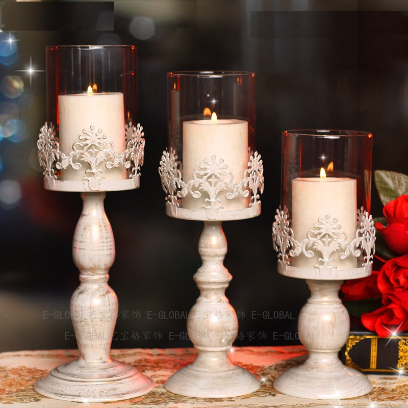 Lukloy glass candle holders home decor romantic iron glass high lukloy glass candle holders home decor romantic iron glass high candle stand wedding candelabra decoration items in candle holders from home garden on junglespirit Gallery