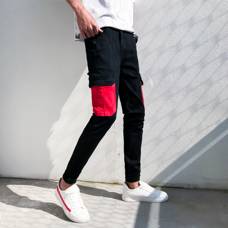 Pants Summer High Wear Leisure Nine Part Personality City Boy Trend Exquisite joggers hip hop streetwear calca masculina Best