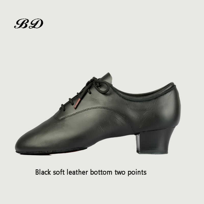 Latin Dance Schoenen Sneakers MANNEN SCHOENEN Beroep Ballroom Schoen Moderne Zachte Koeienhuid Premium Oxford Hak 4.5 cm BD 417 Zachte zool