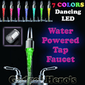 2016New 7 Цветов Изменение Мини Кухня Ванная Torneira Cozinha Аксессуары Glow Светодиодные Поток Воды Кран нажмите Бесплатная Доставка