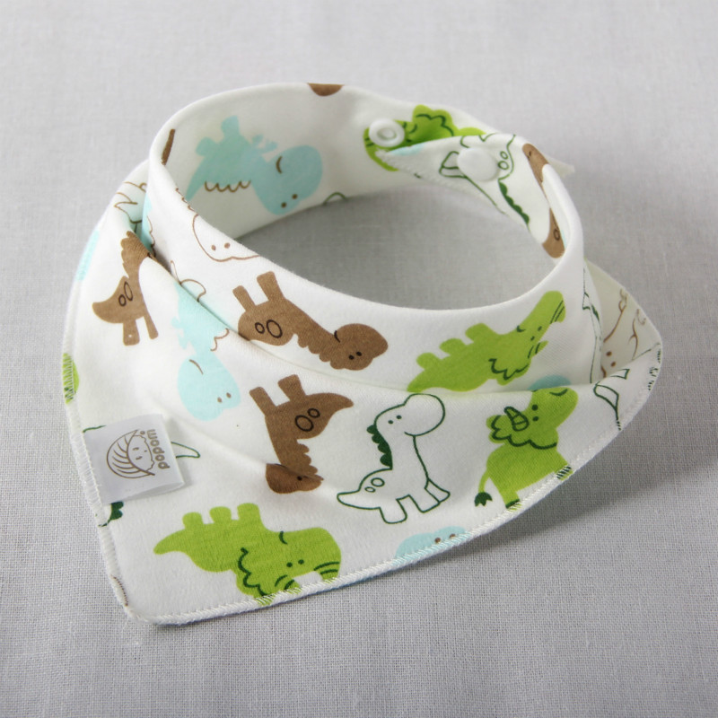 Baby bibs High quality triangle double layers cotton baberos Cartoon Character Animal Print baby bandana bibs