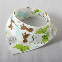 Baby bibs High quality triangle double layers cotton baberos Cartoon Character Animal Print baby bandana