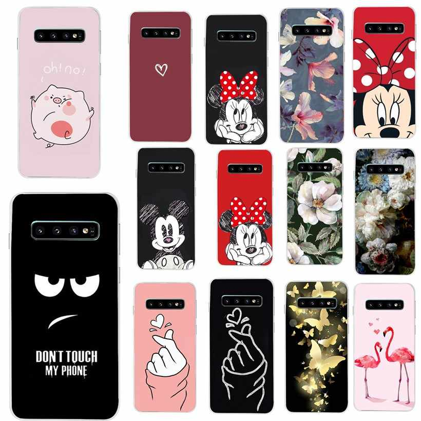 For Samsung S10 Case Silicone TPU Soft Case for Samsung Galaxy S10 Plus Lite Phone Back Cover For Funda Galaxy S10e  e coque