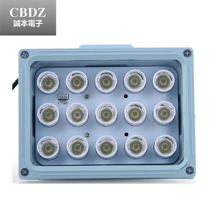 ФОТО WaterProof High Power LED White Spotlight(15pcs) for Security Surveillance CCTV Assistanc Fill Lighting(15W) with Light Sensor