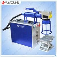 Mactron Portable 20W Raycus Pulse Fiber Laser Marker Machine And Laser Fiber Machine Price
