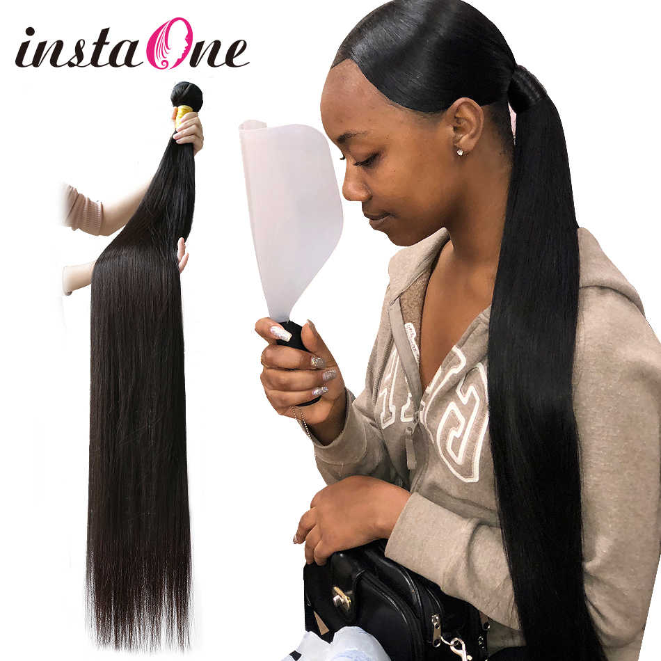 Brazilian Hair Weave 28 30 32 40 Inch Bundles Straight Unprocessed Human Hair Natural Color Raw Virgin Hair Weft Hair Extension