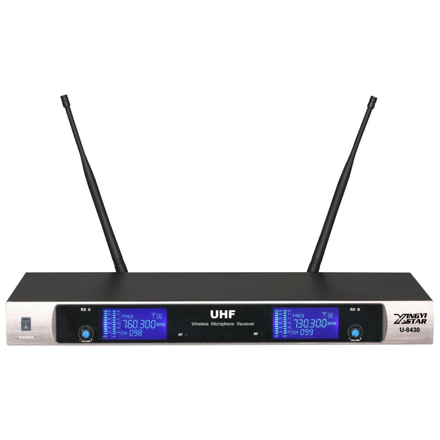 Envío gratis profesional UHF sistema de micrófono inalámbrico de - Audio y video portátil - foto 5