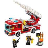 Fire Ladder Truck Compatible Legoe City Fire 60107 Bricks Building Blocks toys for Childrens Model 239Pcs