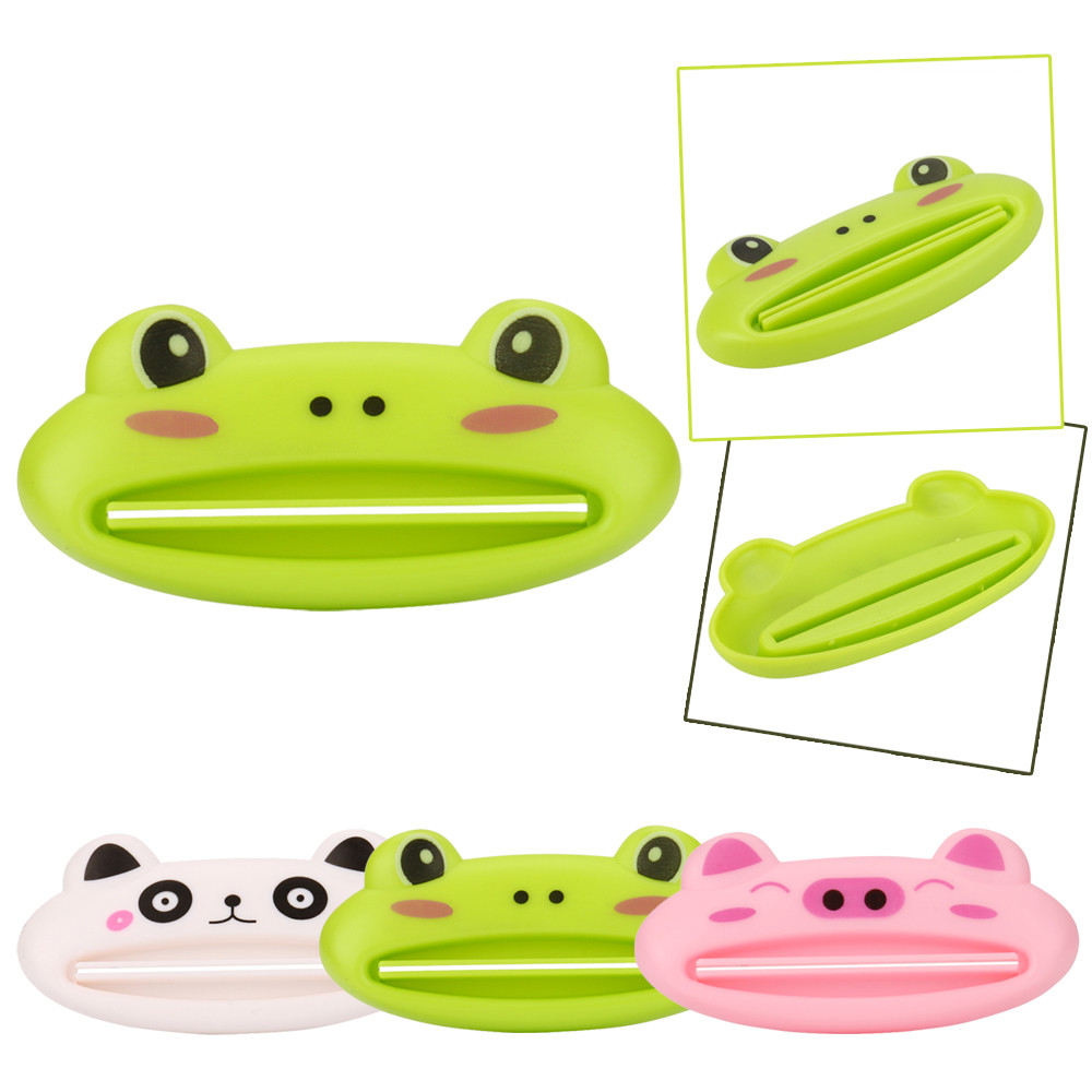 1pc Cute Animal multifunction squeezer toothpaste squeezer Home Commodity Bathroom Tube Cartoon Toothpaste Dispenser