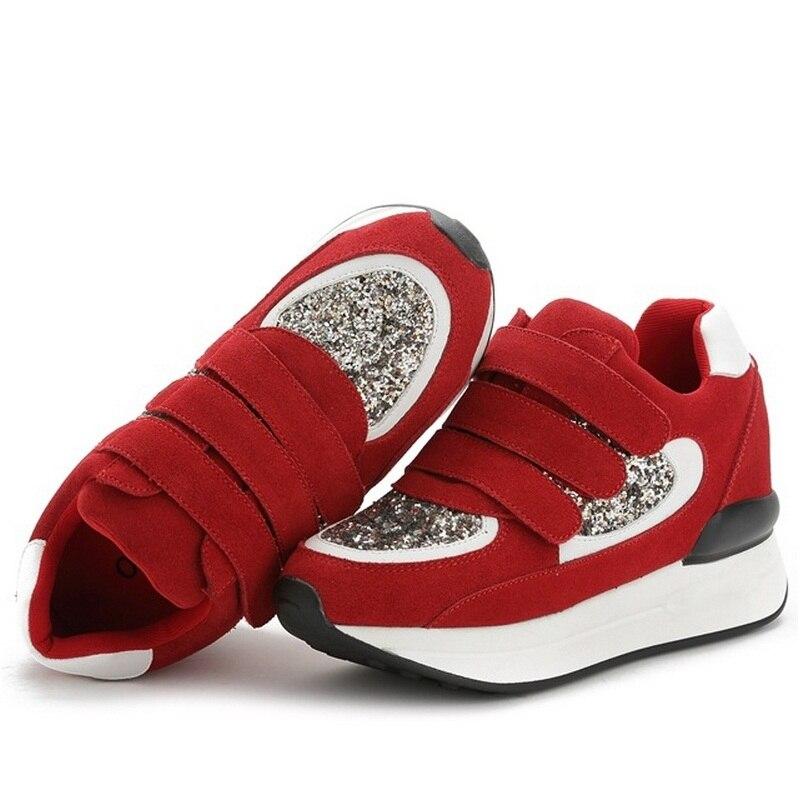 gris Casual Altura Inferior Otoño Mujeres Aire Grueso Invierno Fitness Aumento B2382 E rojo Libre 39 Columpio Negro Al Zapatos Lentejuelas 34 qgwwSfH