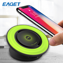 Eaget Qi Wireless Charger Pad Fast Charger For Samsung Galaxy S8 S7 Plus Edge Wireless Charging For iphone 8 10 Quick Charger