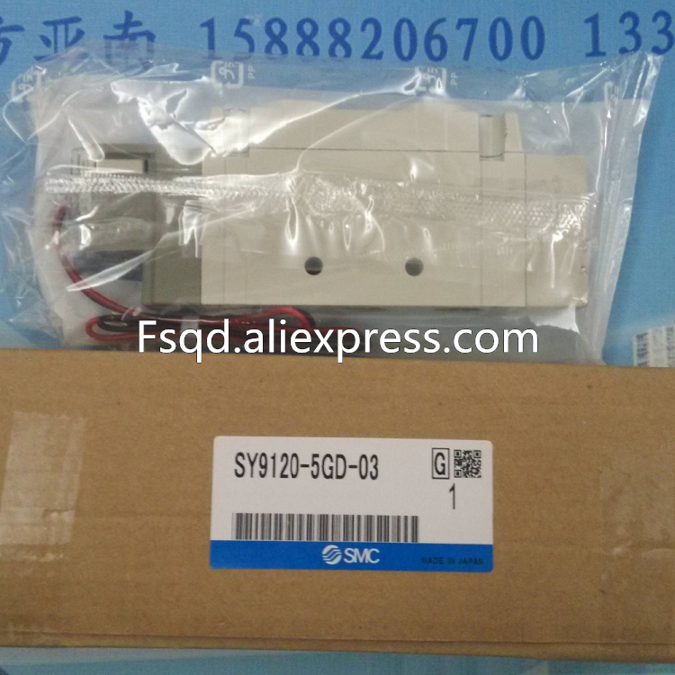 SY9120-5GD-03 SMC solenoid valve electromagnetic valve pneumatic component dhl ems brand new smc sy9120 4d 03 5 port rubber seal solenoid valve plc ab8