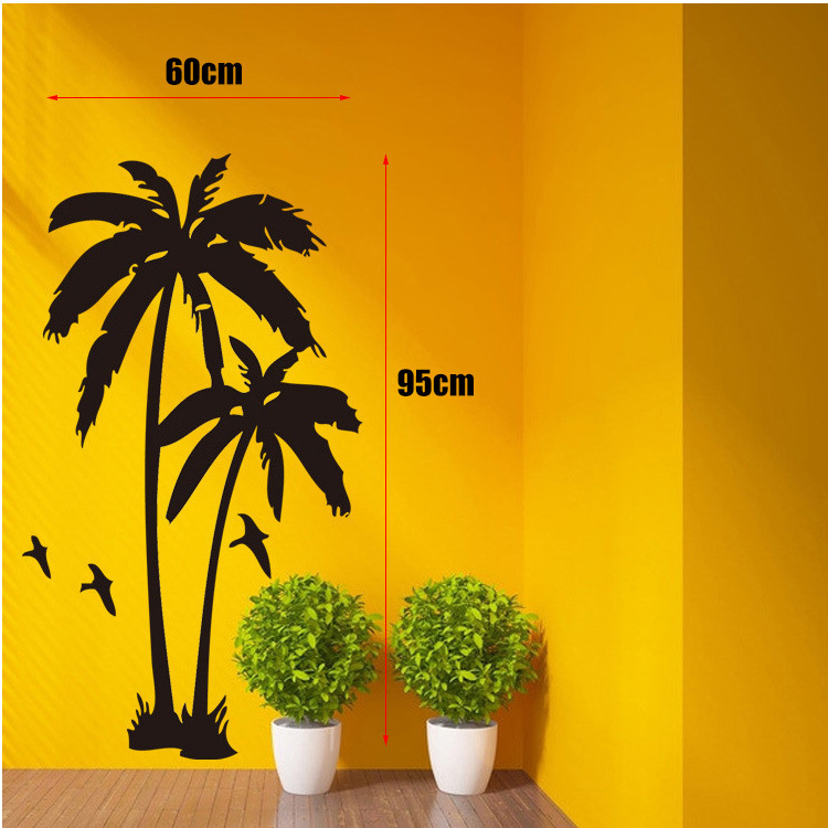 Home Decor Cool Coconut Palm Tree Mural Wall Stickers Wall Decals Size  60*95cm Free Shipping In Wall Stickers From Home U0026 Garden On Aliexpress.com  | Alibaba ...