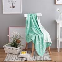 Skin friendly cotton Combed cotton knit blankets Cotton padded blankets blankets Children's multi purpose blankets 90X110cm