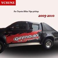 Уширитель крыла для Toyota Hilux аксессуары черный цвет Брызговики для Toyota Hilux Vigo 2005 2006 2008 2010 2009 2007 части автомобиля