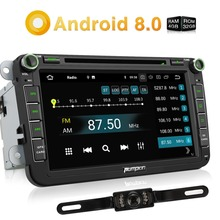 Pumpkin 2 Din 8 Android 8.0 4G+32G Car Stereo DVD Player GPS Navigation For VW/Skoda/Golf/Seat Wifi 4G Fastboot Radio Headunit