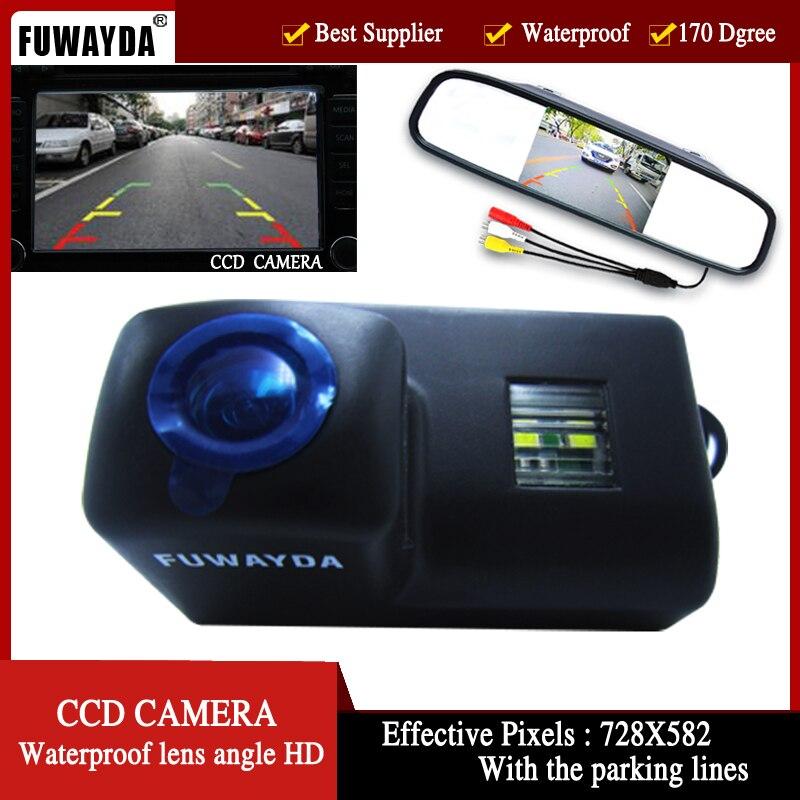 FUWAYDA couleur voiture vue arrière caméra pour Peugeot 206 207 306 307 308 406 407 5008 partenaire Tepee 4.3 pouces rétroviseur moniteur