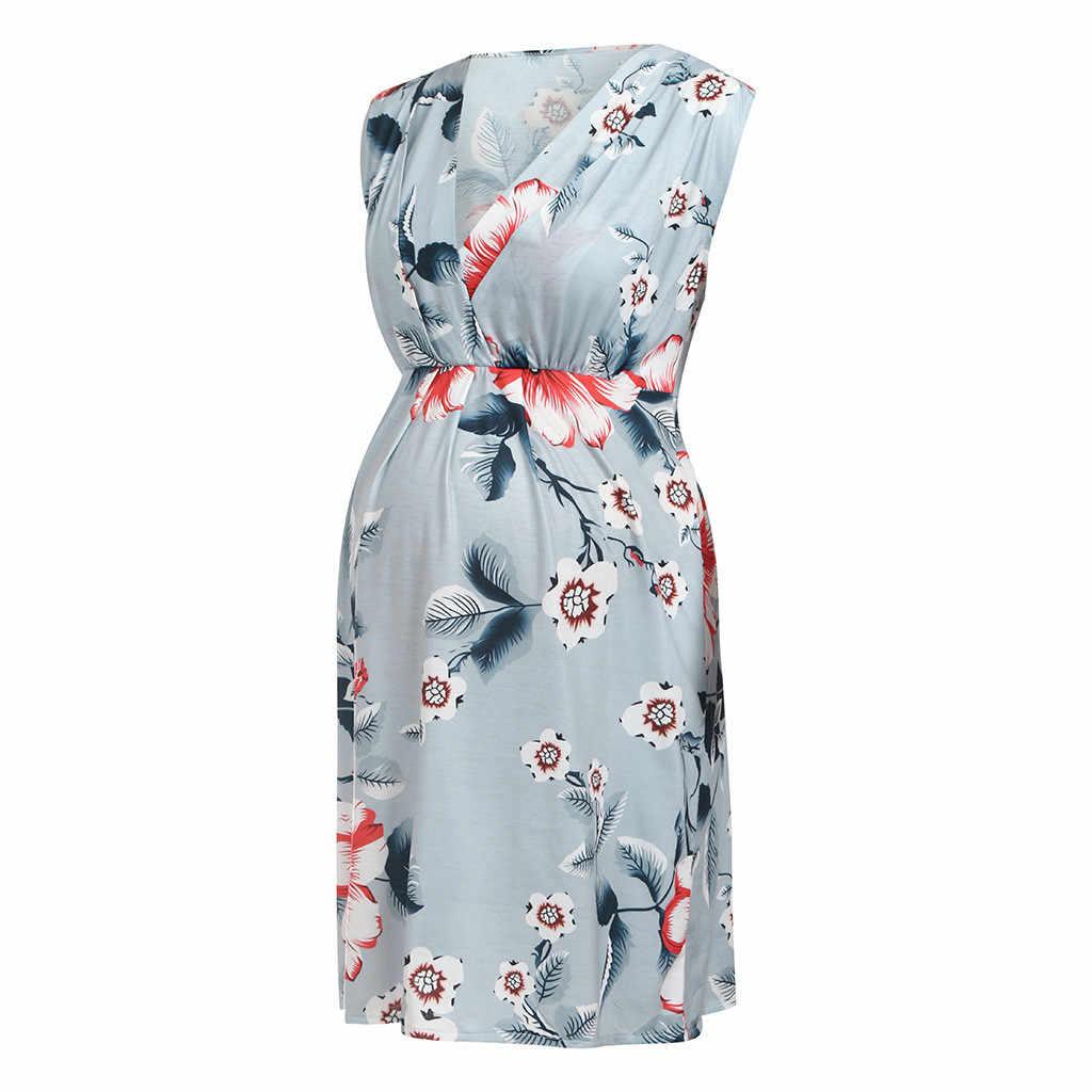 27d66393df3e3 Women Mother Casual Floral Pregnancy Dress For Maternity Dresses ...