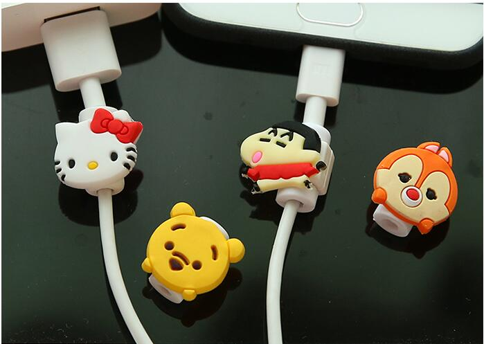 Hot Selling Cute Lovely Cartoon Cable Protector de cabo USB Cable Winder Cover Case For Smart phone cable Protect  CXQ4