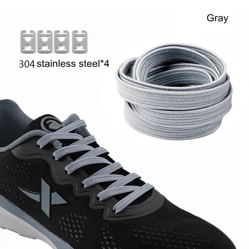 1pair 100CM No Tie Lazy ShoeLaces Elastic Rubber Shoes Lace Sneaker Children Safe Elastic Shoelace 16 Colors
