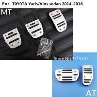 Auto Styling Abdeckung Aluminium Legierung Fuß Gas/Benzin/Öl Bremse Rest Lampe Trim Pedal Für Toyota Vios/yaris Limousine 2014 2015 2016