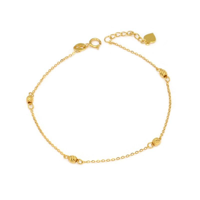 18K rose gold peach heart diamond shaped Chopin bracelet female models