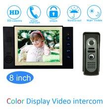 (1 set) Latest Home Intercom system 8inch one to one Door phone Video intercom Doorbell talkback system Door access control