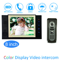 1 Set Latest Home Intercom System 8inch One To One Door Phone Video Intercom Doorbell
