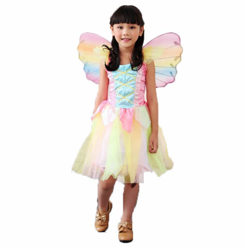 Fairy elf Rainbow Dress Princess childrenu0027s costumes childrenu0027s suit Halloween costumes kids carnival costume for girls children-in Girls Costumes from ...  sc 1 st  AliExpress.com & Fairy elf Rainbow Dress Princess childrenu0027s costumes childrenu0027s suit ...
