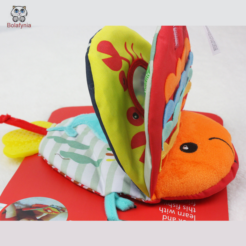 BOLAFYNIA Baby infant cloth book Toy Fish cloth books built in BB ...