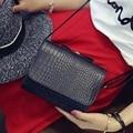 Hanup 2016 новая мода крокодил картина небольшая площадь мешок Цепи сумки PU портативный плеча сумку