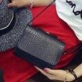 Hanup 2016 new fashion crocodile pattern small square bag Chain handbags PU portable shoulder messenger bag