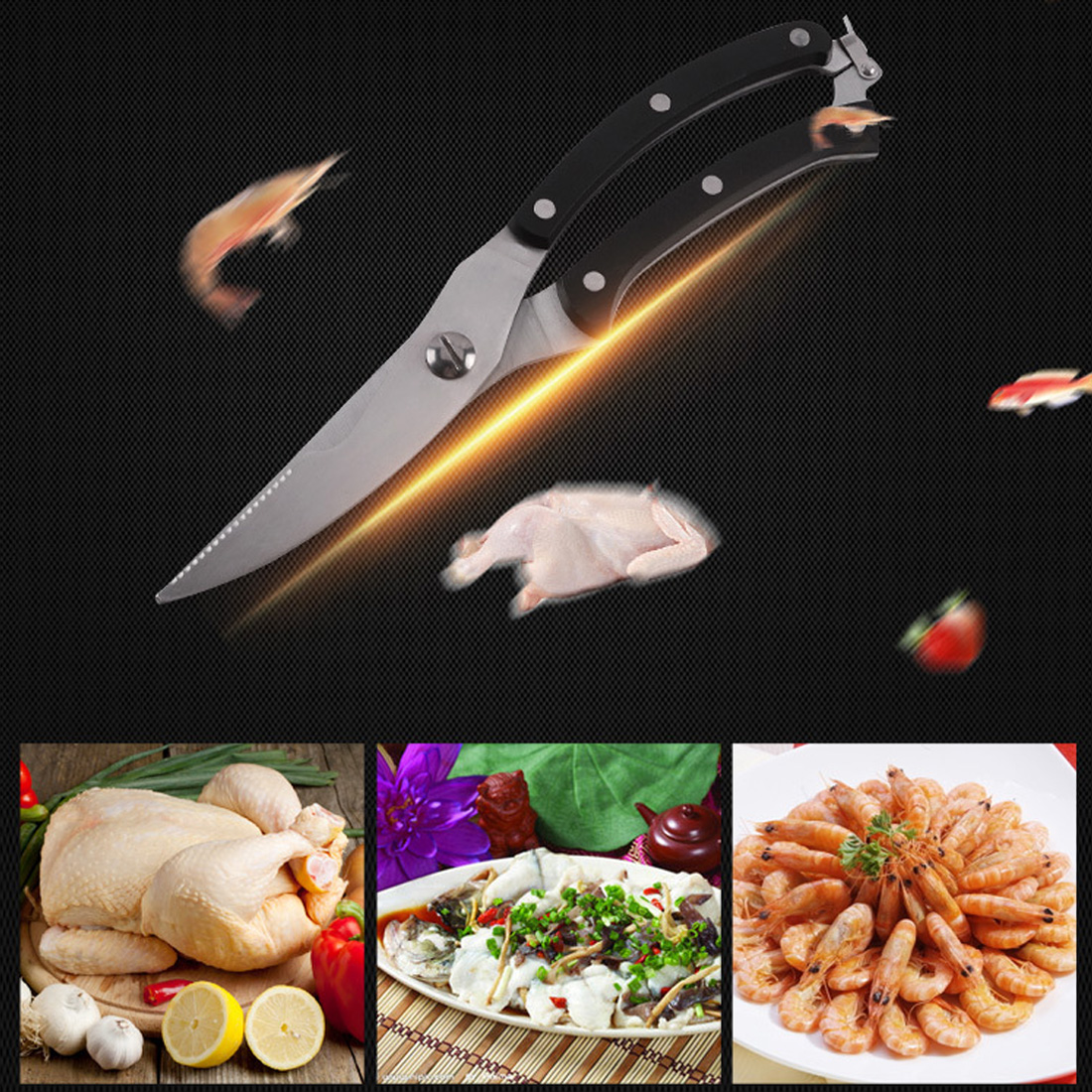 High Quality Strong Knives Kitchen Shears Stainless Steel Poultry Fish Chicken Bone Scissors For Kitchen Worldwide Store