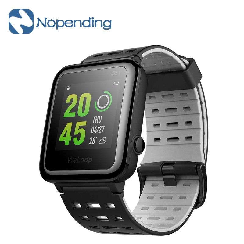 Global Version WeLoop Hey 3S Smartwatch Sports Smart Watch GPS AGPS 50M Waterproof Bluetooth Heart Rate Sensor for Xiaomi IOS MI мобильный телефон nokia 130 dual sim 2017 черный a00028615