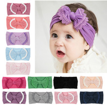 Yundfly 1PCS Cute Baby Toddler Infant Bowknot Headband Hair Bow Children Headwraps Hairband Accessories