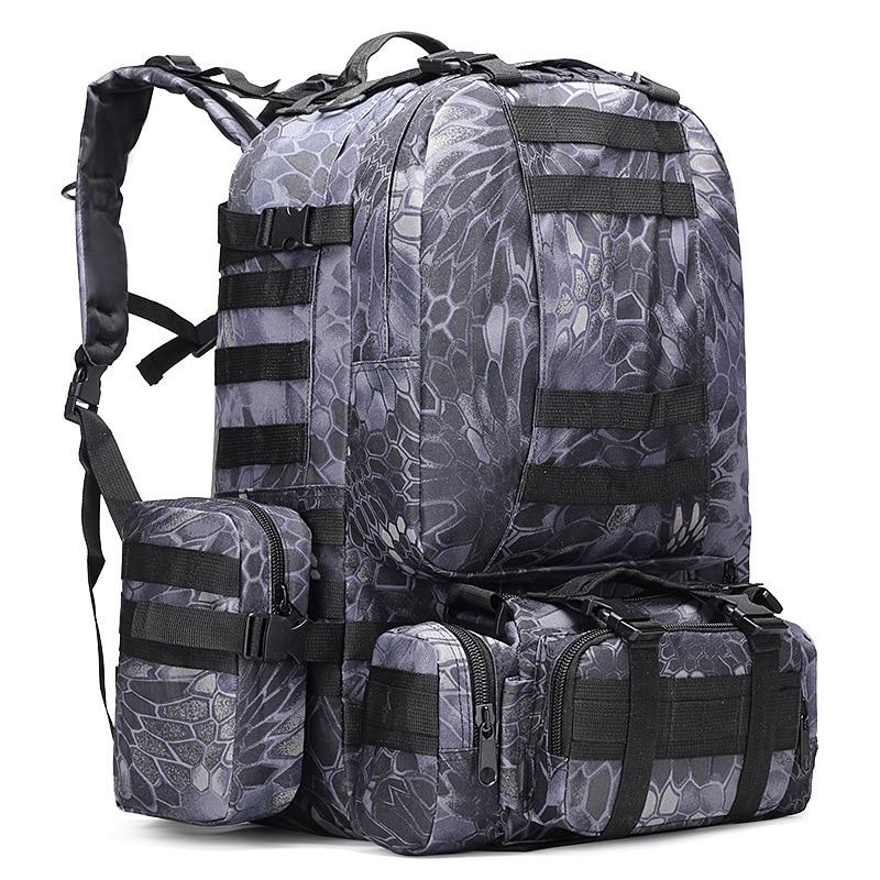 Armée sac à dos 50l-70l militaire Camouflage sac à dos tactique militaire sac à dos Molle pour Camping grand sac à dos militaire 50l