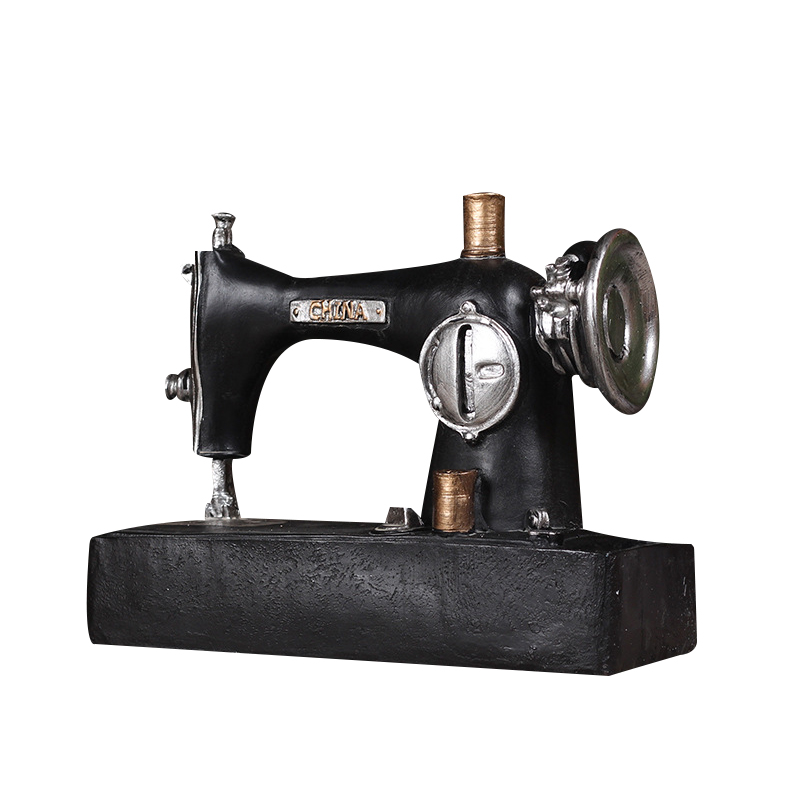 Vintage Old Sewing Machine Decoration Craft Figurines Europe Living Room Ornaments Bar Shop Cafe Decoration Craft Business Gifts