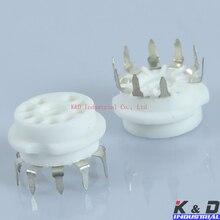 50PCS 9PIN CERAMIC PCB TUBE SOCKET GZC9-B SHUGUANG VACUUM 6V6GT