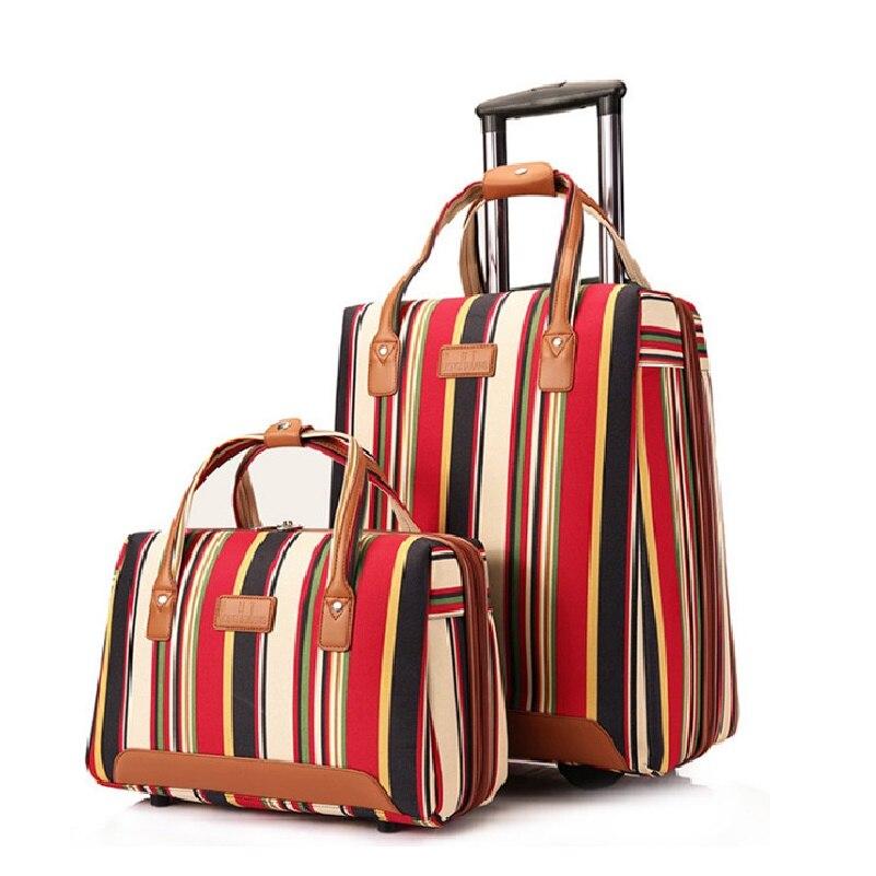 Nouveaux ensembles de bagages à roulettes de valise de mode 20 pouces Oxford sac de voyage sac Trolley roulettes fixes valise d'embarquement