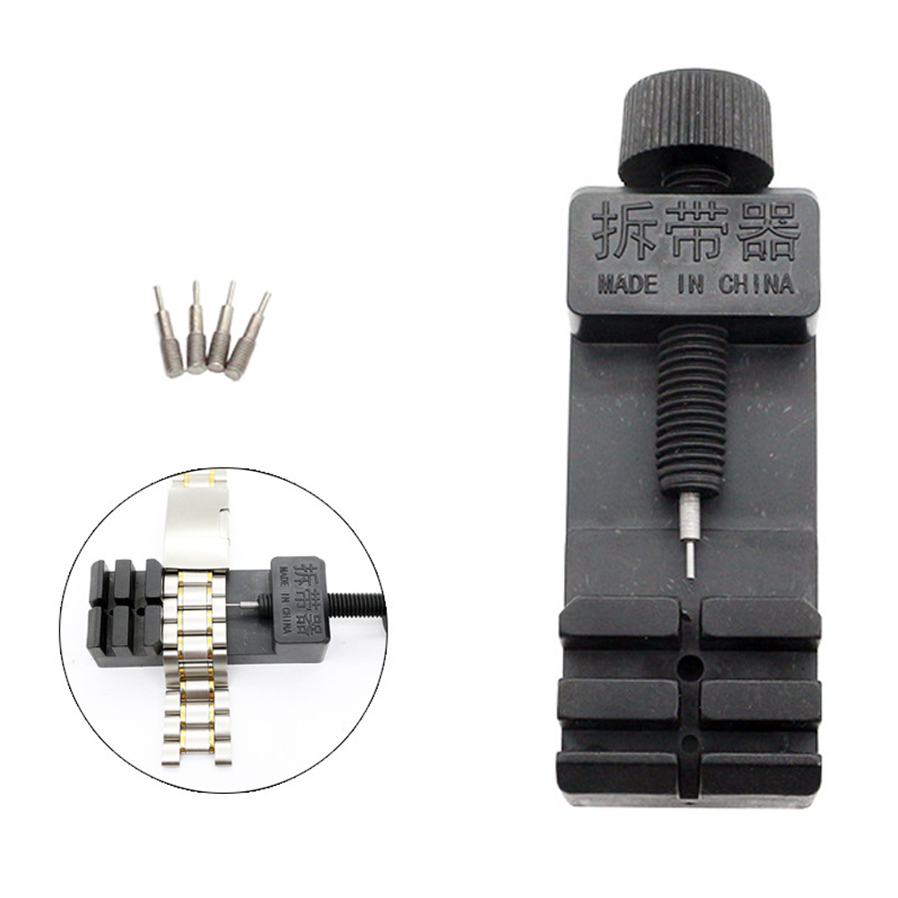 4 Pins Adjustable Professional Multifunctional Slit Repair Parts Link Pin Remover Bracelet Band Strap Watch Tool Kit