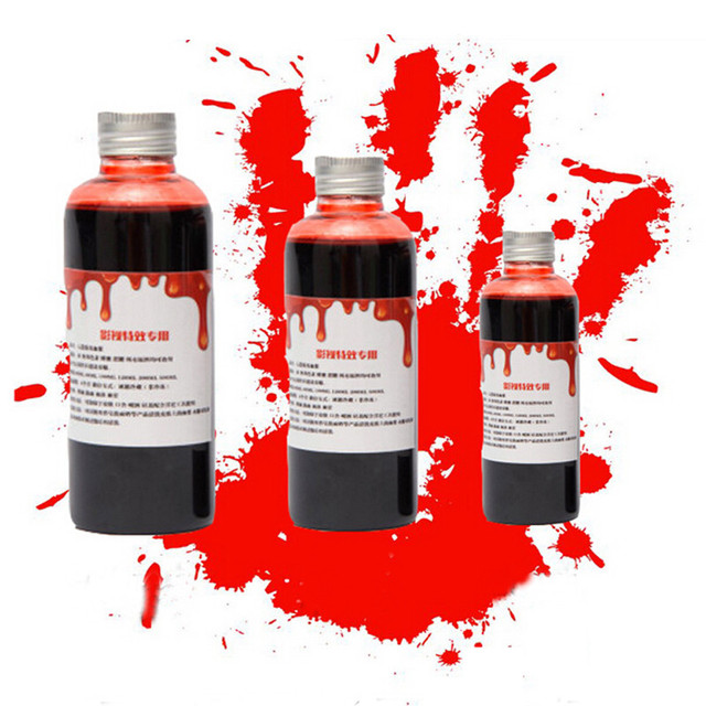 1pc 60ml halloween ultra realistic fake blood simulation of human blood vampire human hematopoietic props - Blood For Halloween