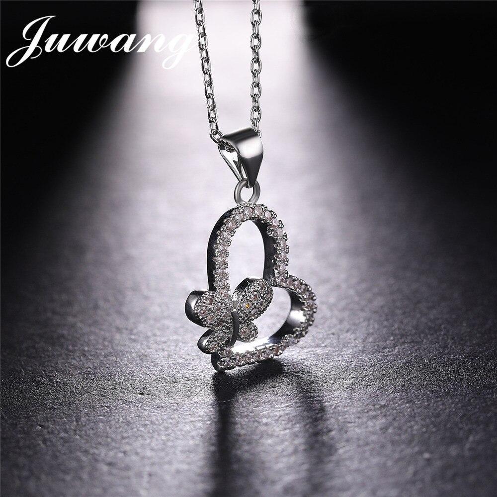 JUWANG-Heart-Pendant-Necklaces-Romantic-wedding-Jewelry-For-Men-Women-Couple-Butterfly-Necklace-Love-Heart-Anniversary (1) -