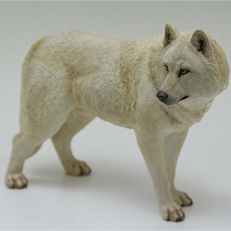 Mnotht 1/6 Simulated animal Model Coyote Snow Wolf Model steppe Wolf For 1:6 Action Figures Toys Hobbies l30
