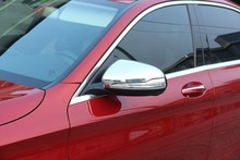 цена на 2pcs For Mercedes Benz W222 S-Class S300 S320 S350 S400 2014-2017 Car Accessories ABS Chrome Side Rearview Mirror Cover Cap Trim