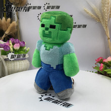 Minecraft Plush Stuffed Toys 18cm Minecraft Snow Golem Steve Zombie Wolf Ocelot Rabbit Chicken Plush Toy for Children Kids