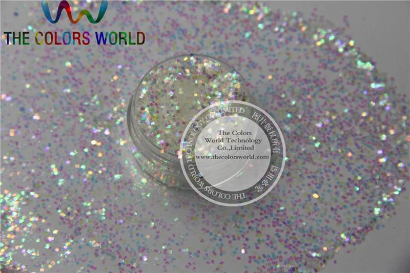 1 mm arco iris iridescente cor branca brilho forma quadrada angulos para a arte do prego