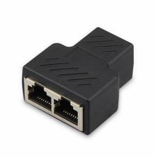 RJ45 ספליטר מתאם 1 עד 2 כפול נקבה יציאת CAT5/חתול 6 LAN Ethernet Sockt חיבורי רשת ספליטר מתאם
