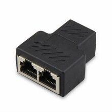 RJ45 Splitter Adapter 1 tot 2 Dual Vrouwelijke Poort CAT5/KAT 6 LAN Ethernet Sockt Netwerkverbindingen Splitter Adapter